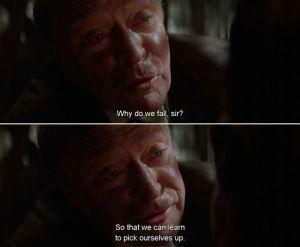 ¿Por qué nos caemos? Para aprender a levantarnos ;)