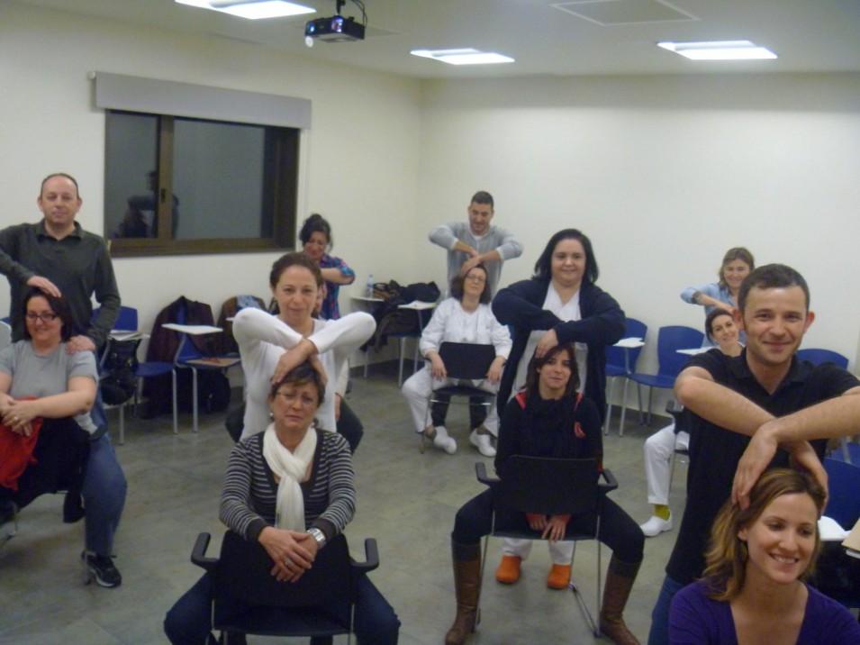 Primera generación de masajistas amma aficionados, desde Hospital Los Arcos del Mar Menor en Marzo de 2013 con antonReina