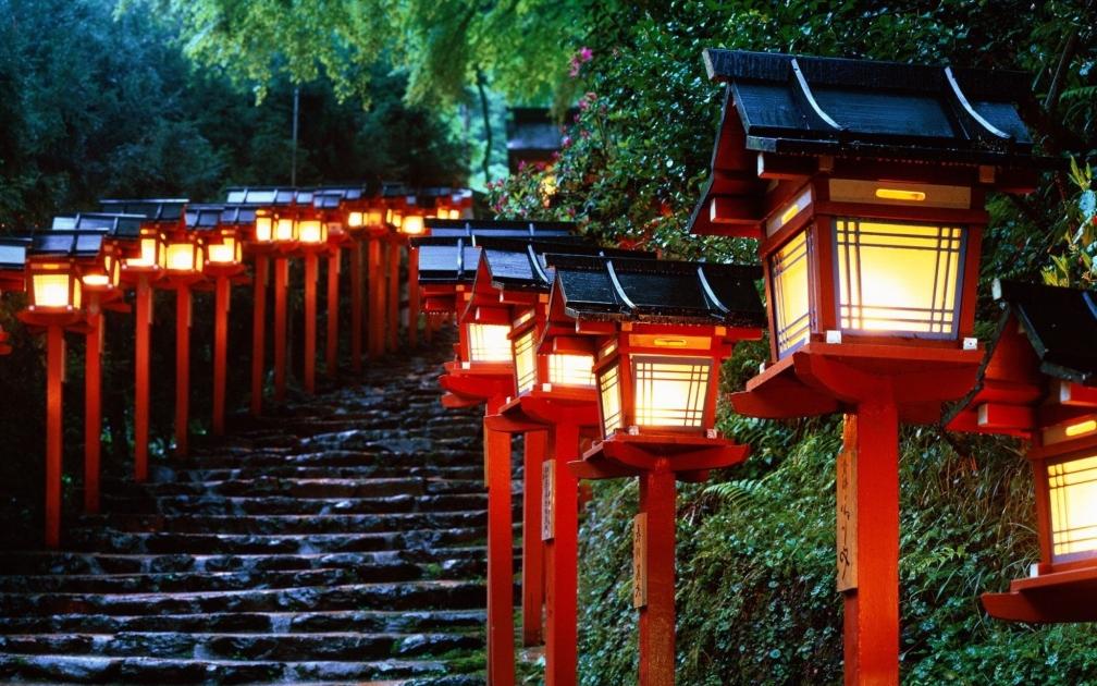 El santuario de Kibune, Japón
