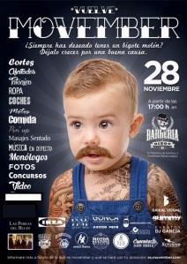Cartel Movember 2015 en Guadalupe-Murcia_LabarberiadeDiego. Masaje sentado con antonReina